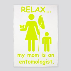 relax mom is_entomologist_yellow 5'x7'Area Rug