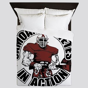 Samoan Atheletes In Action Queen Duvet