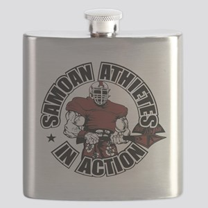 Samoan Atheletes In Action Flask