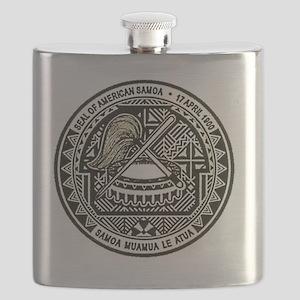 American Samoa Seal Flask