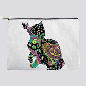 Paisley cat and butterfly Makeup Pouch