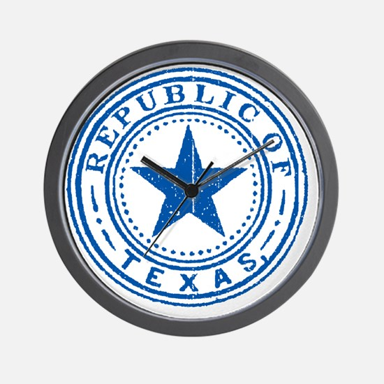 Republic of Texas Old state seal Wall Clock