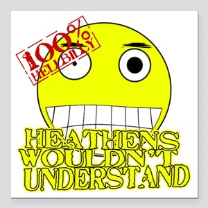 """heathen Square Car Magnet 3"""" x 3"""""""