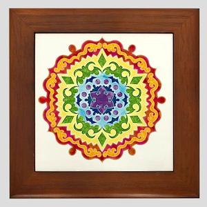 mandalaSolarPlexusShirt2 Framed Tile