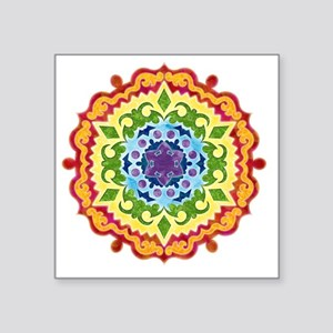 "mandalaSolarPlexusShirt2 Square Sticker 3"" x 3"""