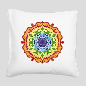 mandalaSolarPlexusShirt2 Square Canvas Pillow