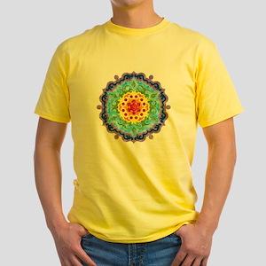 mandalaCrownChakraShirt2 Yellow T-Shirt