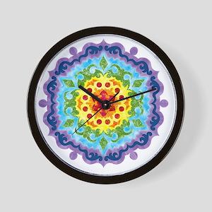 mandalaCrownChakraShirt2 Wall Clock