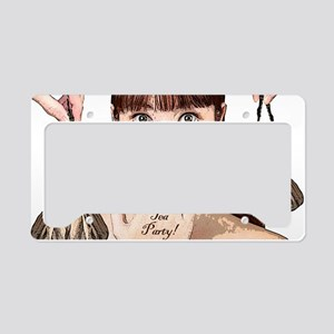 teapartyminiposter License Plate Holder