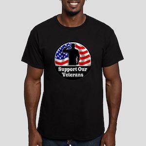 Vet_Sticker1 copy Men's Fitted T-Shirt (dark)