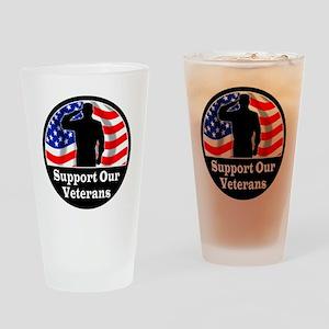 Vet_Sticker1 copy Drinking Glass