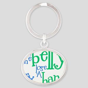 loosehand1 Oval Keychain
