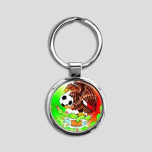MEXICO SOCCER EAGLE Round Keychain