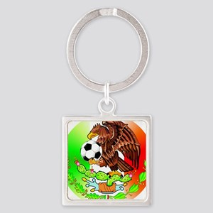MEXICO SOCCER EAGLE Square Keychain