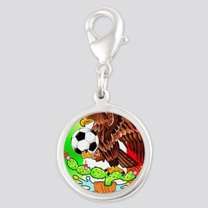 MEXICO SOCCER EAGLE Silver Round Charm