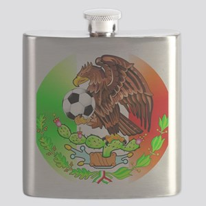MEXICO SOCCER EAGLE Flask
