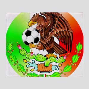 MEXICO SOCCER EAGLE Throw Blanket