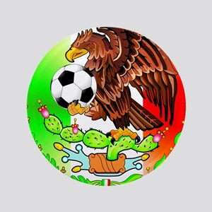 "MEXICO SOCCER EAGLE 3.5"" Button"