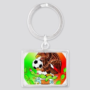 MEXICO SOCCER EAGLE Landscape Keychain