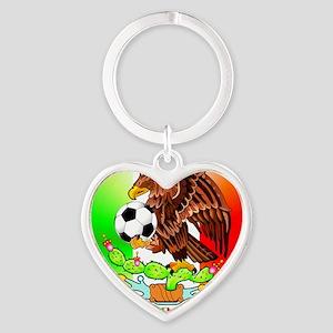MEXICO SOCCER EAGLE Heart Keychain