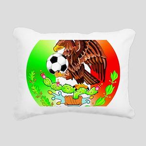 MEXICO SOCCER EAGLE Rectangular Canvas Pillow