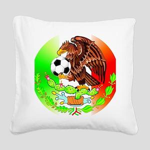 MEXICO SOCCER EAGLE Square Canvas Pillow