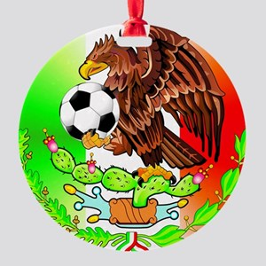 MEXICO SOCCER EAGLE Round Ornament
