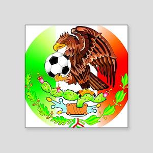 """MEXICO SOCCER EAGLE Square Sticker 3"""" x 3"""""""