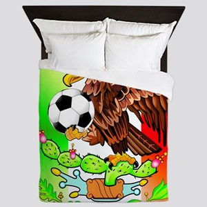 MEXICO SOCCER EAGLE Queen Duvet