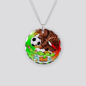 MEXICO SOCCER EAGLE Necklace Circle Charm