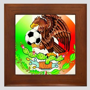 MEXICO SOCCER EAGLE Framed Tile
