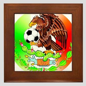 MEXICO SOCCER EAGLE Framed Tile