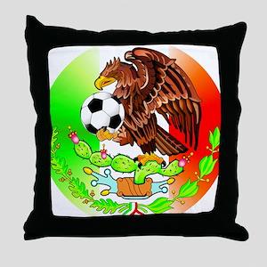 MEXICO SOCCER EAGLE Throw Pillow
