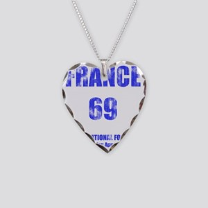 2-FRANCE football vintage cop Necklace Heart Charm