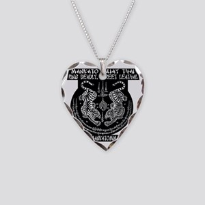 MMT Yant solid backround whit Necklace Heart Charm