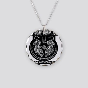 MMT Yant solid backround whi Necklace Circle Charm