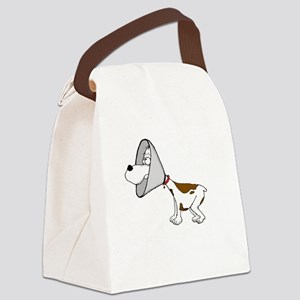 cone of shame3 White300 Canvas Lunch Bag