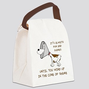 cone of shame3 300res Canvas Lunch Bag