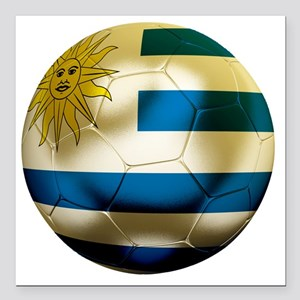 """Uruguay World Cup Square Car Magnet 3"""" x 3"""""""