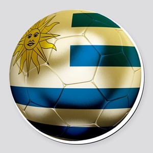 Uruguay World Cup Round Car Magnet