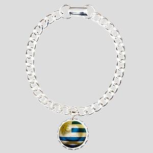 Uruguay World Cup Charm Bracelet, One Charm