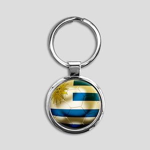 Uruguay World Cup Round Keychain
