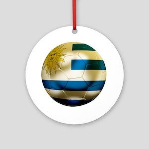 Uruguay World Cup Round Ornament