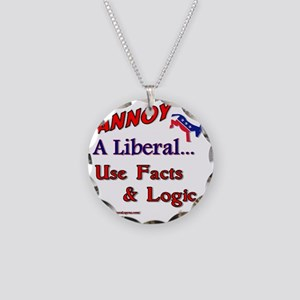 annoy a liberal Necklace Circle Charm