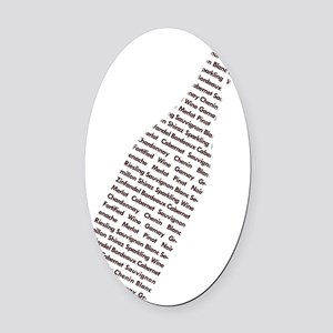 Text Wine 10x10 Oval Car Magnet