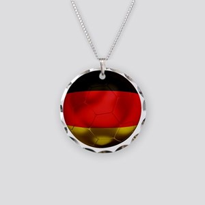 Germany Football1 Necklace Circle Charm