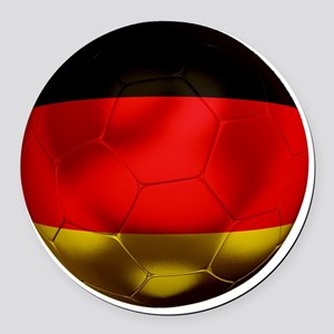 Germany Football1 Round Car Magnet