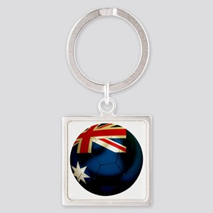 Australia Football Square Keychain
