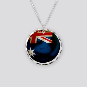 Australia Football Necklace Circle Charm