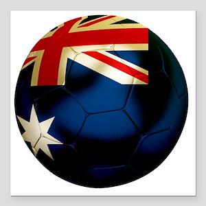 "Australia Football Square Car Magnet 3"" x 3"""